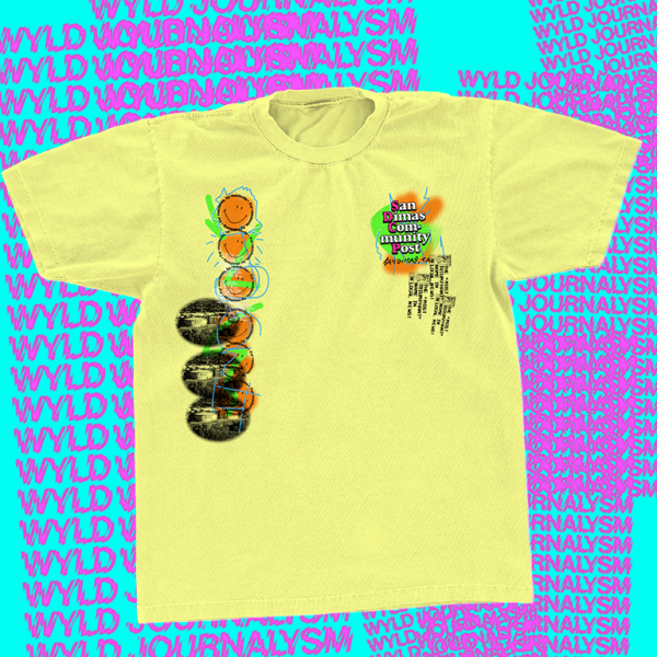 San Dimas Community Post yellow t-shirt