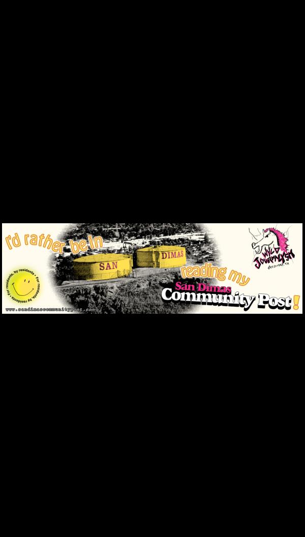 San Dimas Community Post bumper sticker